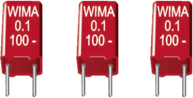 Fóliový kondenzátor MKS Wima MKS2B041001C00KSSD radiálne vývody, 1 µF, 50 V/DC,20 %, 5 mm, (d x š x v) 7.2 x 5 x 9 mm, 1 ks