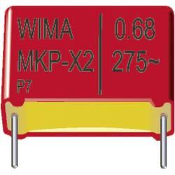 Fóliový kondenzátor MKP Wima MKP 10 3300pF 10% 250V RM7,5 radiálne vývody, 3300 pF, 250 V/DC,10 %, 7.5 mm, (d x š x v) 10 x 4 x 9 mm, 1 ks