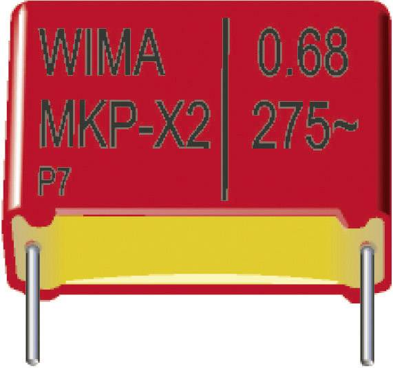 Fóliový kondenzátor MKP Wima MKP 10 6800pF 10% 250V RM7,5 radiální, 6800 pF, 630 V/DC,10 %, 7.5 mm, (d x š x v) 10 x 4 x 9 mm, 1 ks