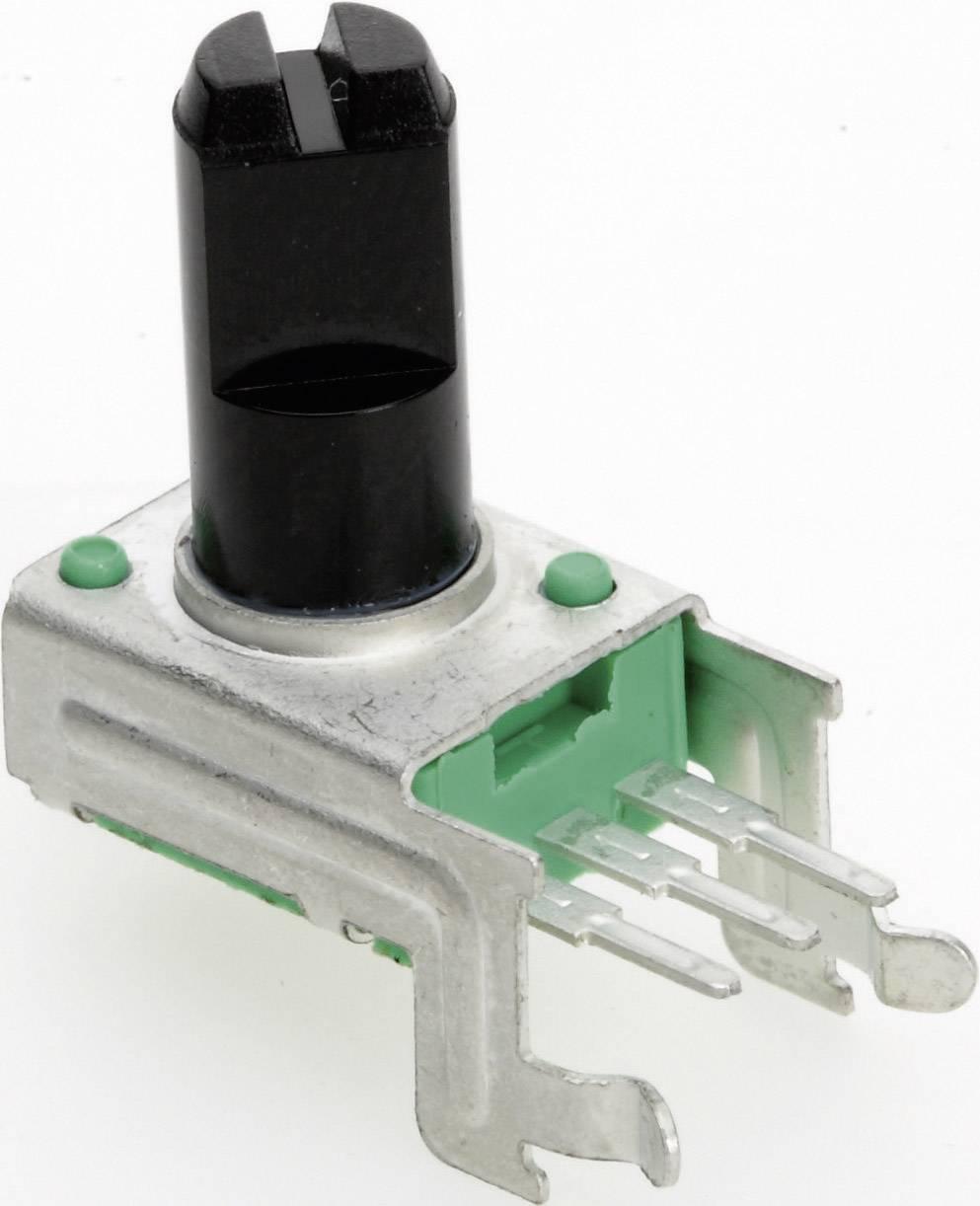 Vodivý plastový potenciometer mono TT Electronics AB P090L-02F20 B-500 R 4112901420, 500 Ohm, 1 ks