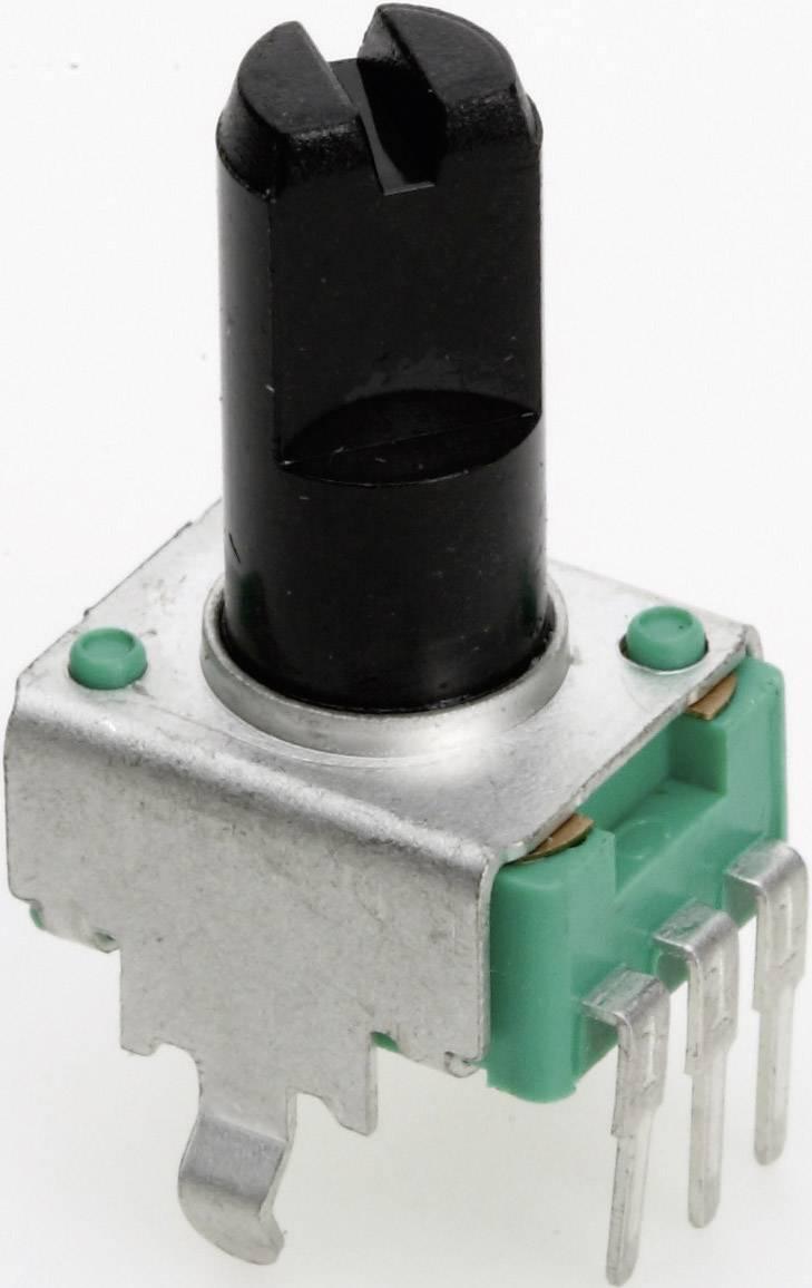Vodivý plastový potenciometer mono TT Electronics AB P090S-04F20 B-1 KR 4113001775, 1 kOhm, 1 ks