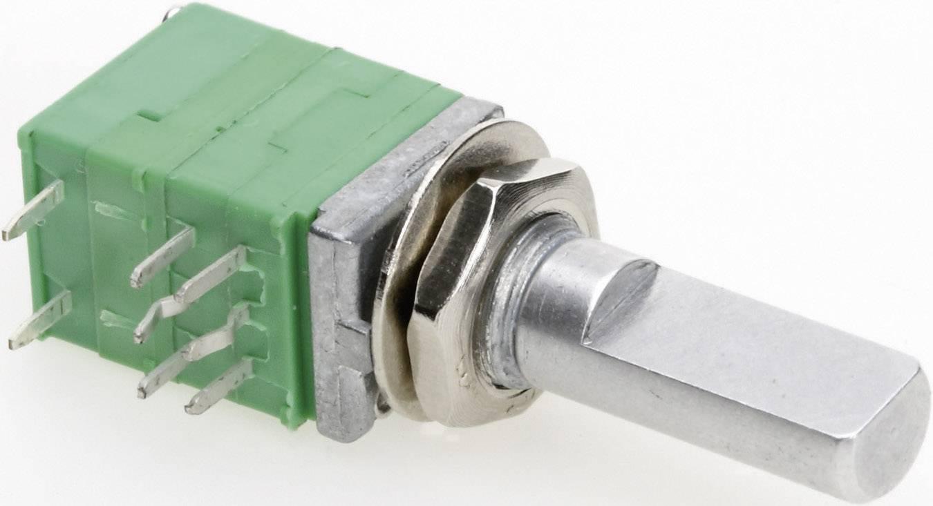 Presný potenciometer so spínačom, 2-cestný mono TT Electronics AB P092S-FC20 B-100 KR 4113305315, 100 kOhm, 1 ks