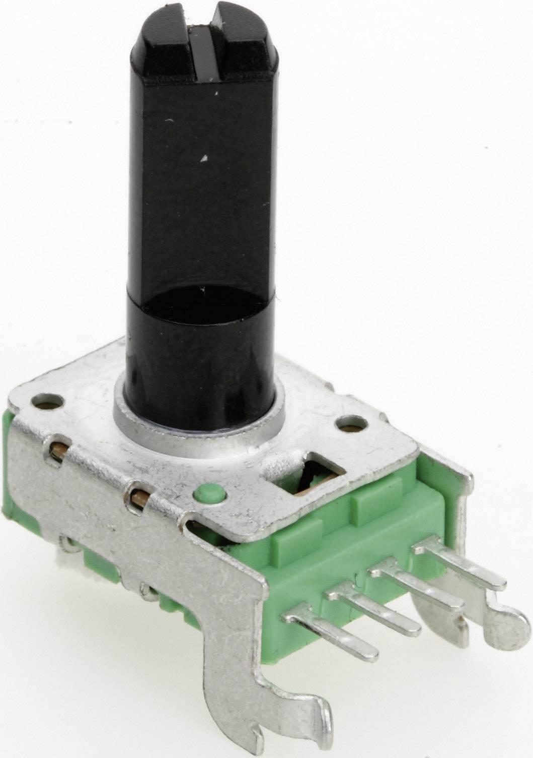 Vodivý plastový potenciometer mono TT Electronics AB P110KV-0F20 B-500 R 4113601420, 500 Ohm, 1 ks