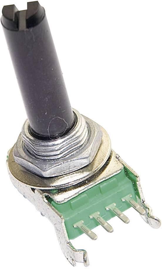 Vodivý plastový potenciometer mono TT Electronics AB P110KV1-0F20 B-1 KR 4113701775, 1 kOhm, 1 ks