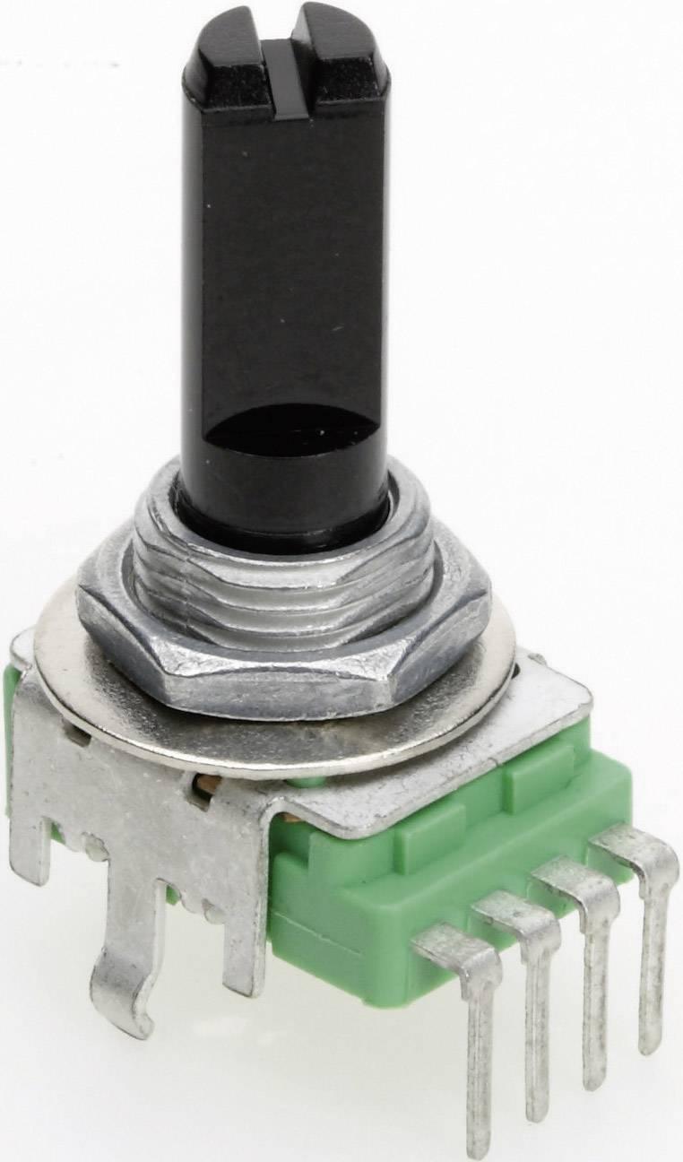 Vodivý plastový potenciometer mono TT Electronics AB P110KH1-0F20 B-50 KR 4113504960, 50 kOhm, 1 ks
