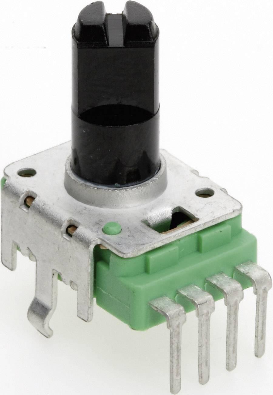 Vodivý plastový potenciometer mono TT Electronics AB P110KH-0F20 B-500 R 4113401420, 500 Ohm, 1 ks