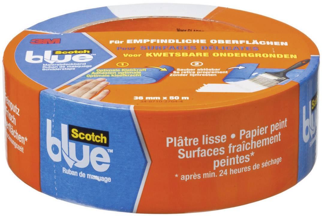 Maskovacia páska 3M 80EU3650 7000049402, (d x š) 50 m x 36 mm, modrá, 1 roliek