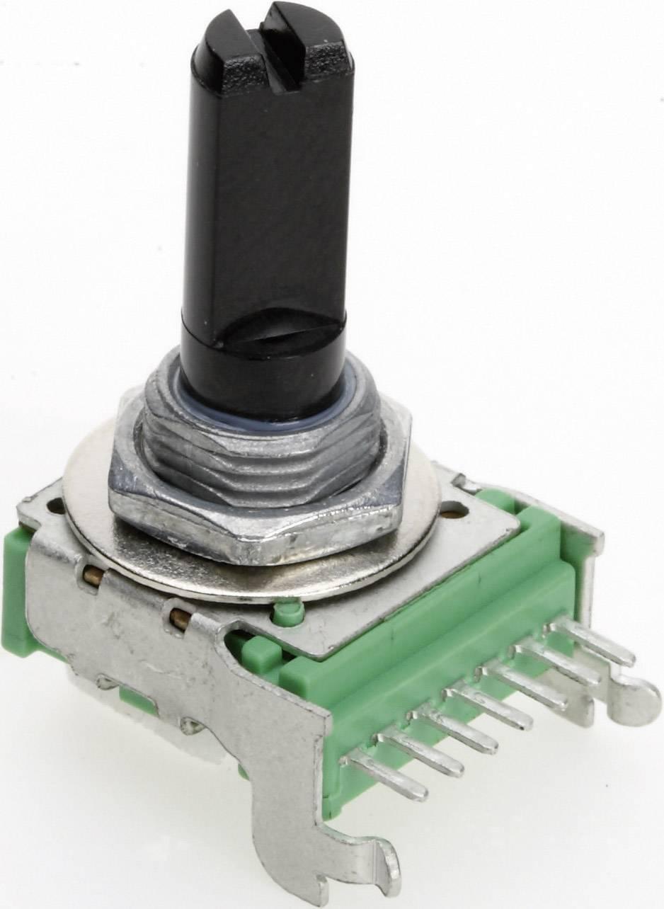 Vodivý plastový potenciometer mono TT Electronics AB P140KV1-F20 B-50 KR 4114404960, 50 kOhm, 1 ks