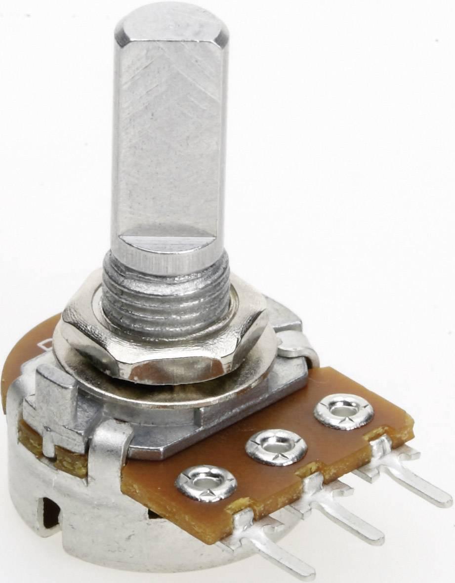 Vodivý plastový potenciometer mono TT Electronics AB P160KN-0FC20 B-100 KR 4114505315, 100 kOhm, 1 ks