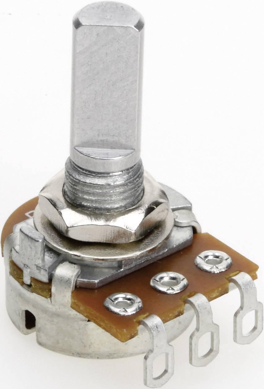 Vodivý plastový potenciometer mono TT Electronics AB P160KNP-0FC20 B-500 R 4114601420, 500 Ohm, 1 ks