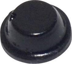 Podstavná nôžka prístrojová TOOLCRAFT PD2075SW, (Ø x v) 8 mm x 2.8 mm, čierna, 1 ks