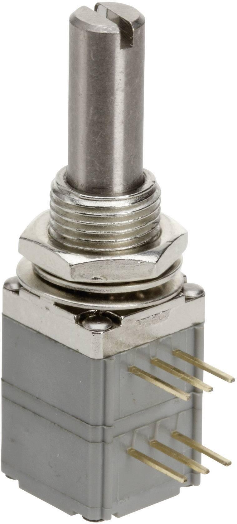 Presný potenciometer prachotesný mono TT Electronics AB P260P-D2BS4A B-10 KR 4113813545, 10 kOhm, 1 ks