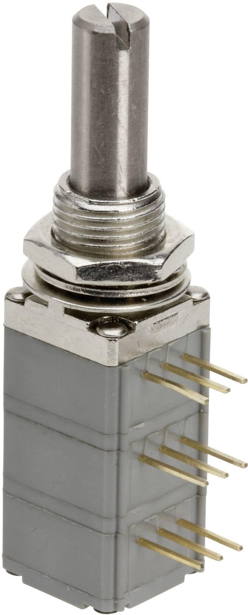 Presný potenciometer prachotesný, so spínačom, 2-cestný mono TT Electronics AB P260S-D2BS4A B-10 KR 4113913545, 10 kOhm, 1 ks