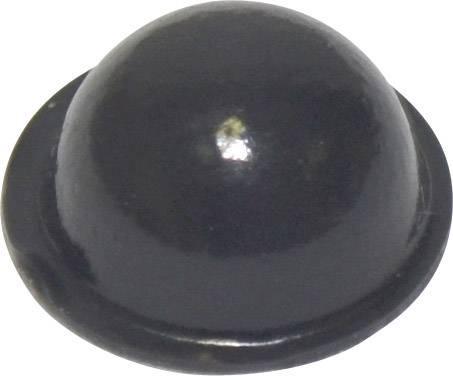 Podstavná nôžka prístrojová TOOLCRAFT PD2150SW, (Ø x v) 15.9 mm x 6.35 mm, čierna, 1 ks