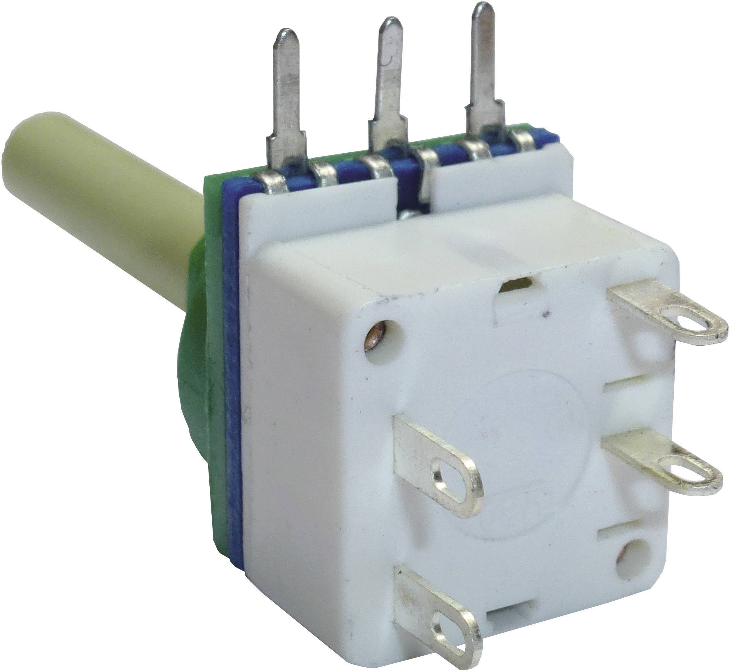 Otočný potenciometer so spínačom mono Potentiometer Service GmbH 7518 7518, 100 kOhm, 1 ks