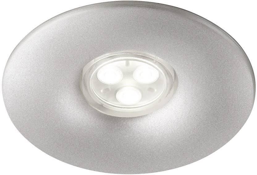 LED vstavané svetlo Philips Lighting Aquila 598304816, 7.5 W, teplá biela, hliník