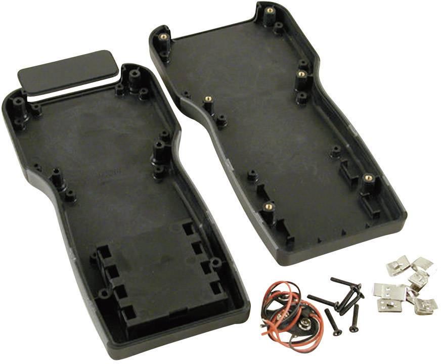 Plastová krabička Hammond Electronics 1553TBKBAT, 210 x 100 x 32 mm, ABS, čierna, 1 ks
