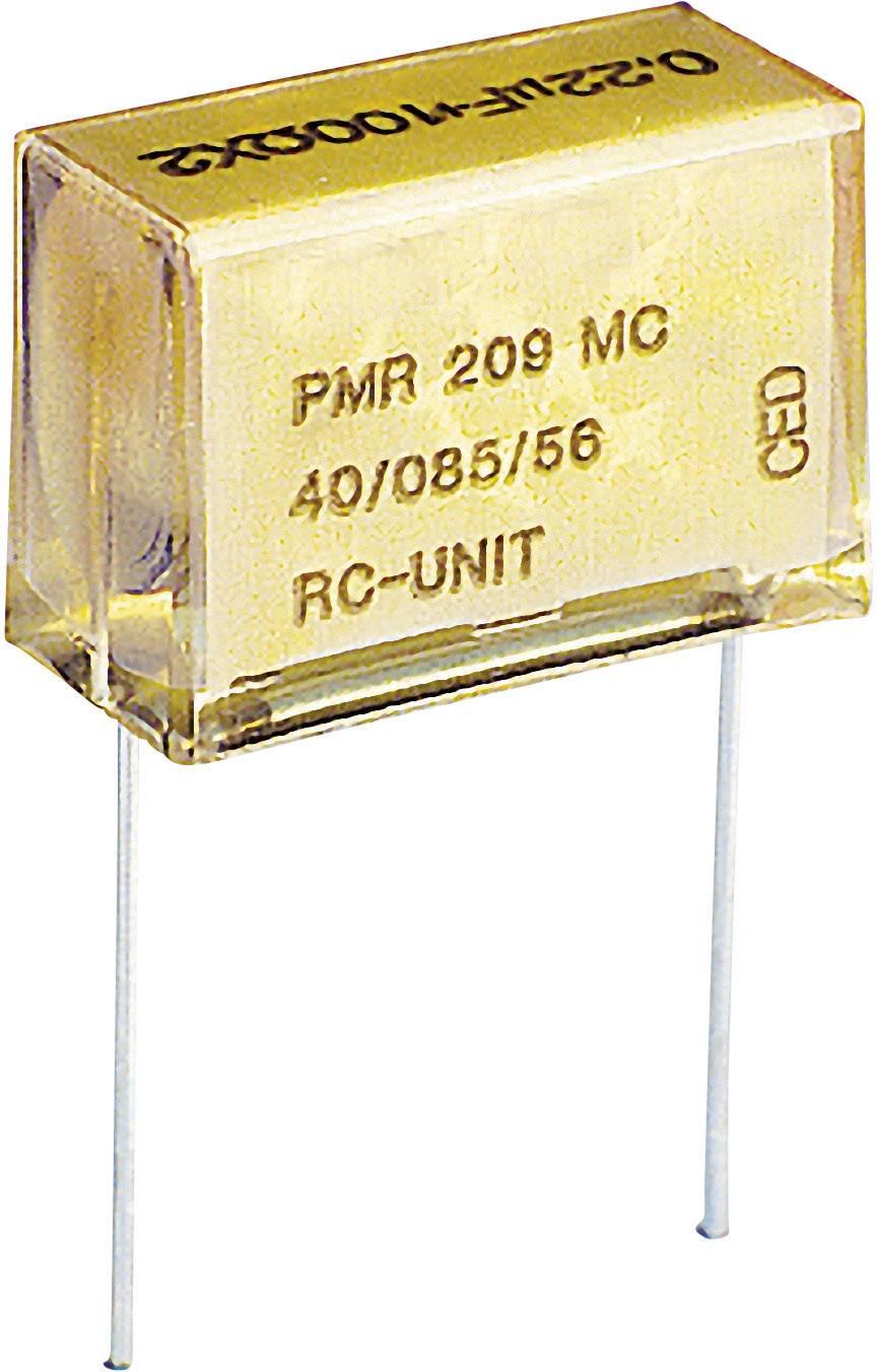 Odrušovací kondenzátor Kemet PMR209MC6100M100R30, 0,1 µF, 250 V/AC;630 V, 20 %, 24 x 7,6 x 14 mm