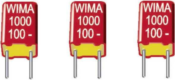Fóliový FKS kondenzátor Wima FKS 2 1500pF 10% 100V RM5 radiálne vývody, 1500 pF, 100 V/DC,10 %, 5 mm, (d x š x v) 7.2 x 2.5 x 6.5 mm, 1 ks