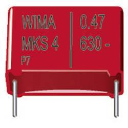 Fóliový kondenzátor MKS Wima MKS 4 1,0uF 10% 63V RM10 radiálne vývody, 1 µF, 63 V/DC,10 %, 10 mm, (d x š x v) 13 x 4 x 9 mm, 1 ks