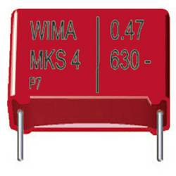Fóliový kondenzátor MKS Wima MKS 4 3,3uF 10% 250V RM27,5 radiálne vývody, 3.3 µF, 250 V/DC,10 %, 27.5 mm, (d x š x v) 31.5 x 11 x 21 mm, 1 ks
