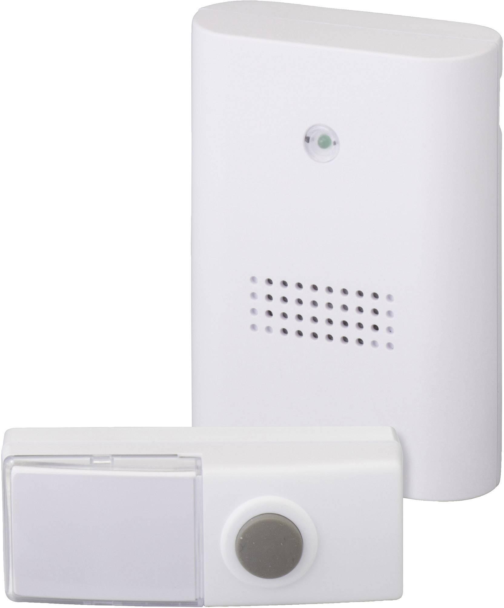 Bezdrôtový zvonček Heidemann HX Plug-in 70801, kompletná sada, max. dosah 100 m, biela