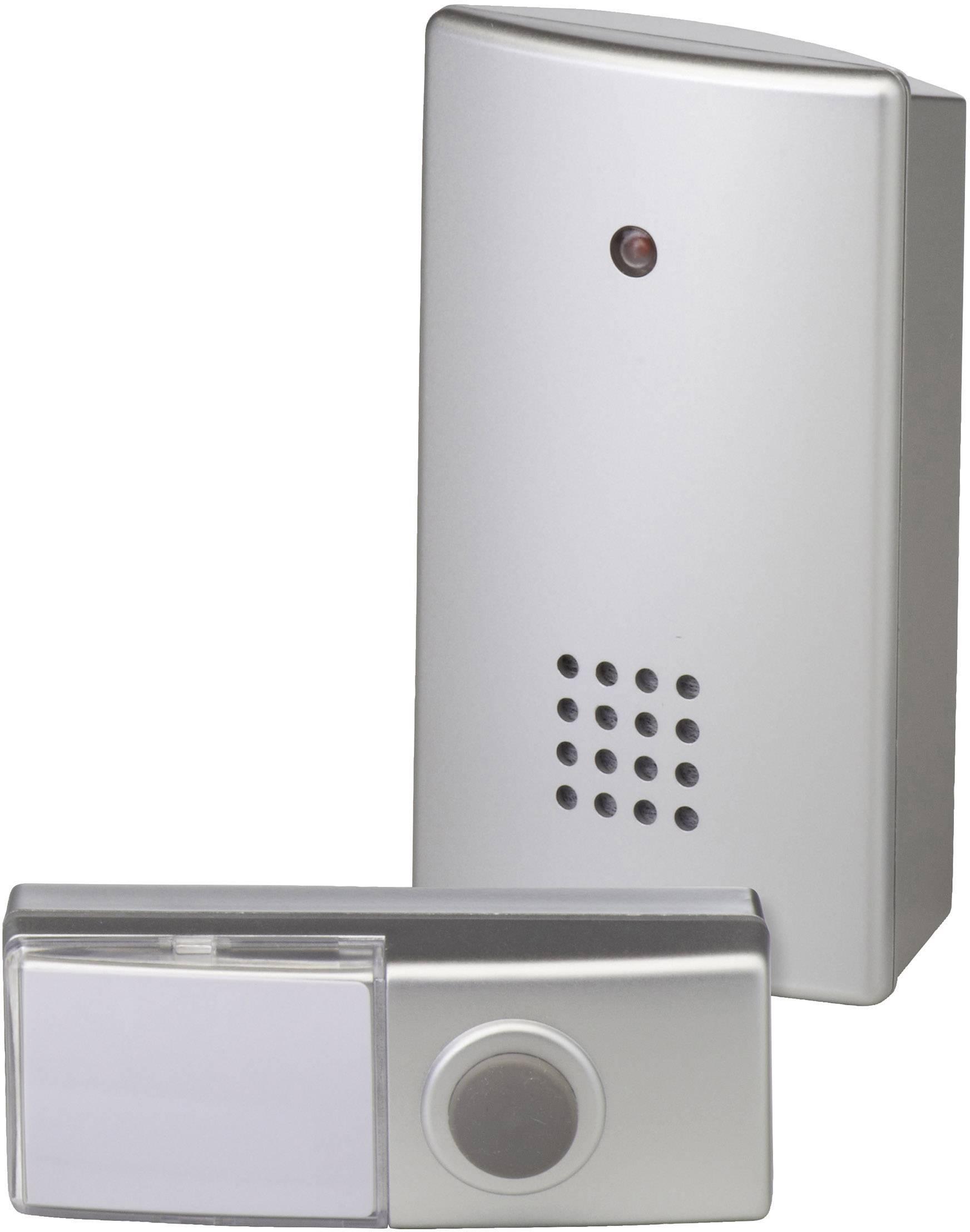 Bezdrôtový zvonček Heidemann HX Clip 70803, kompletná sada, max. dosah 100 m, strieborná