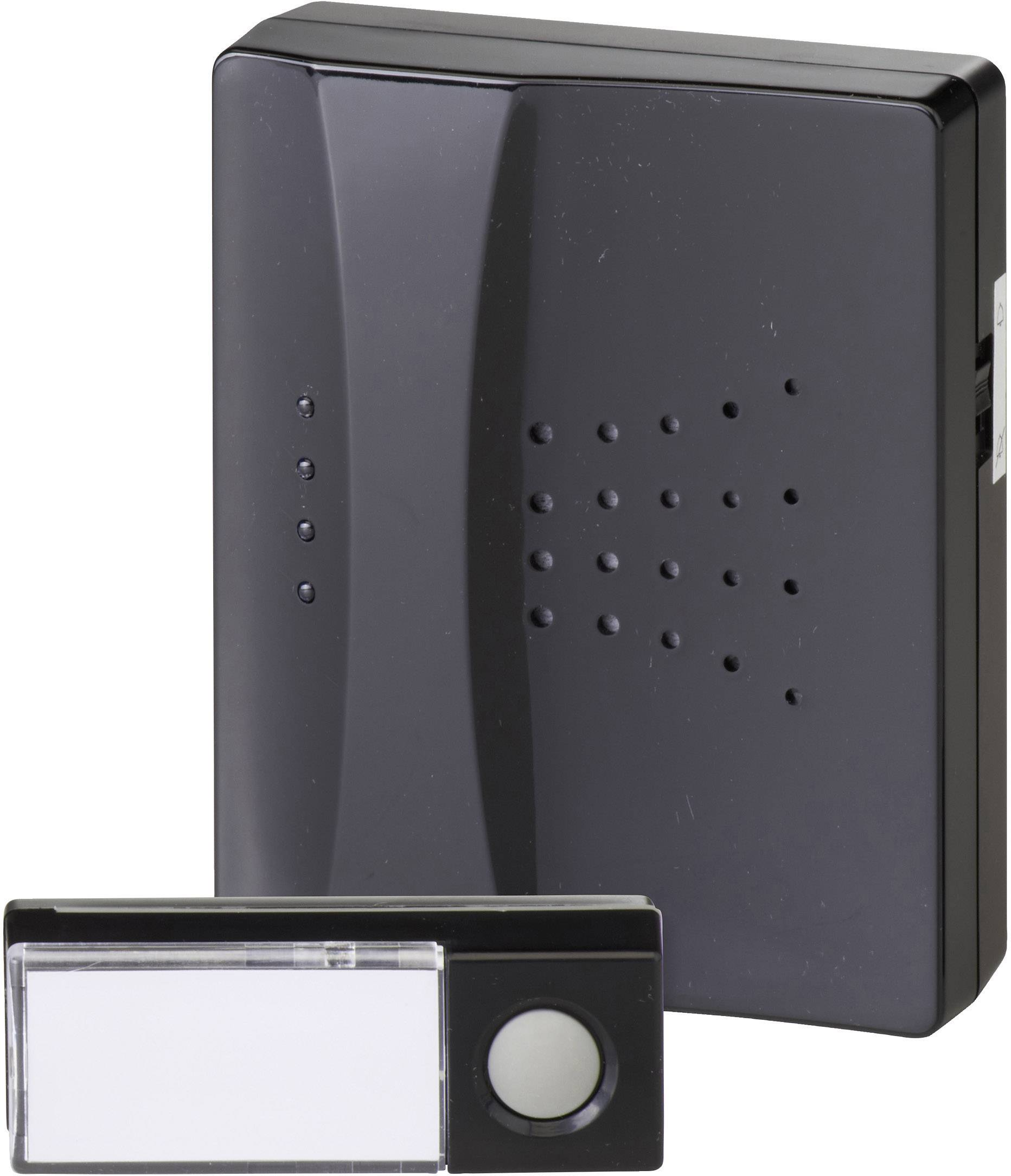 Bezdrôtový zvonček Heidemann HX Piano 70831, kompletná sada, max. dosah 150 m, čierna