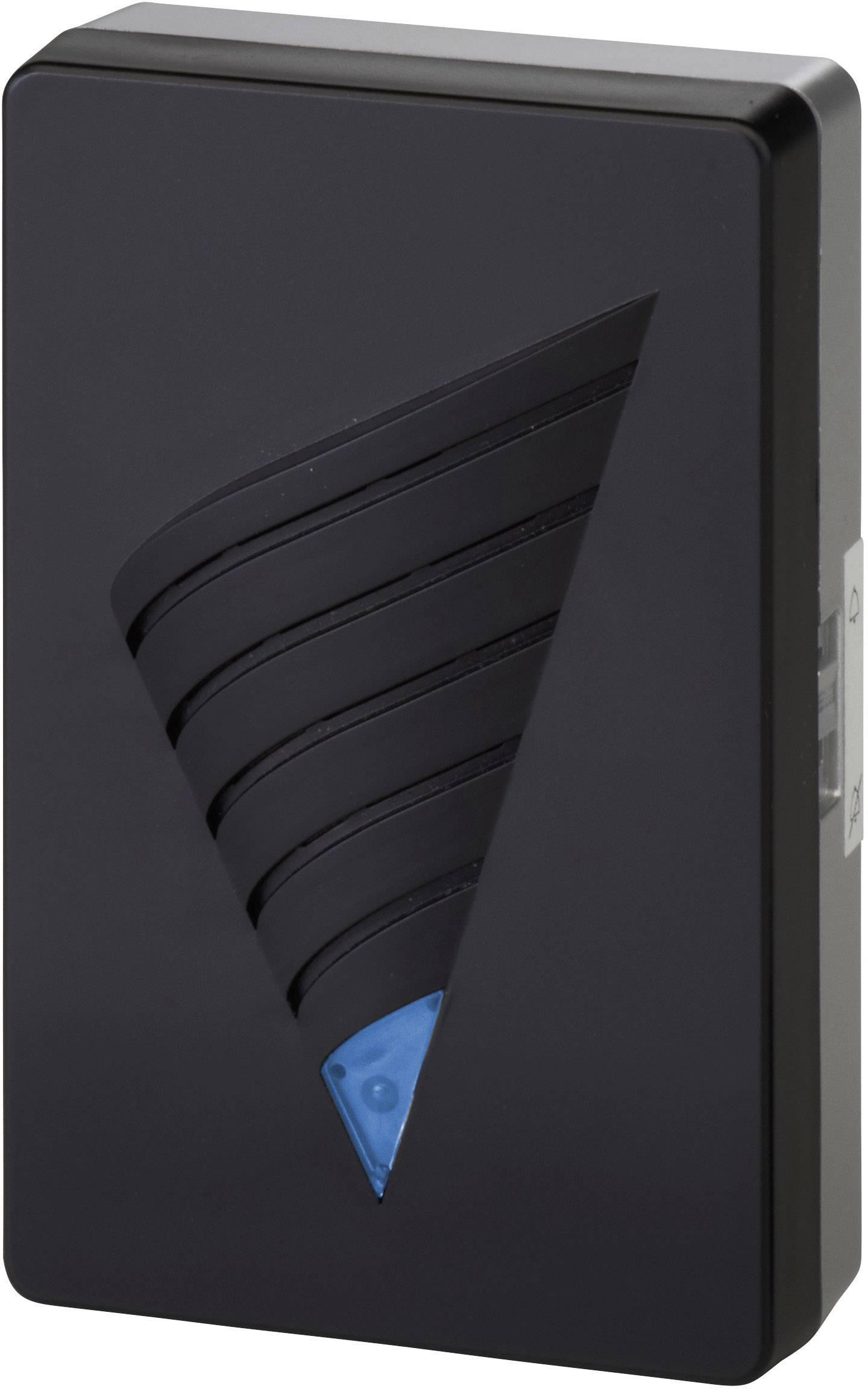 Bezdrôtový zvonček Heidemann HX Ice 70870, prijímač, max. dosah 150 m, čierna