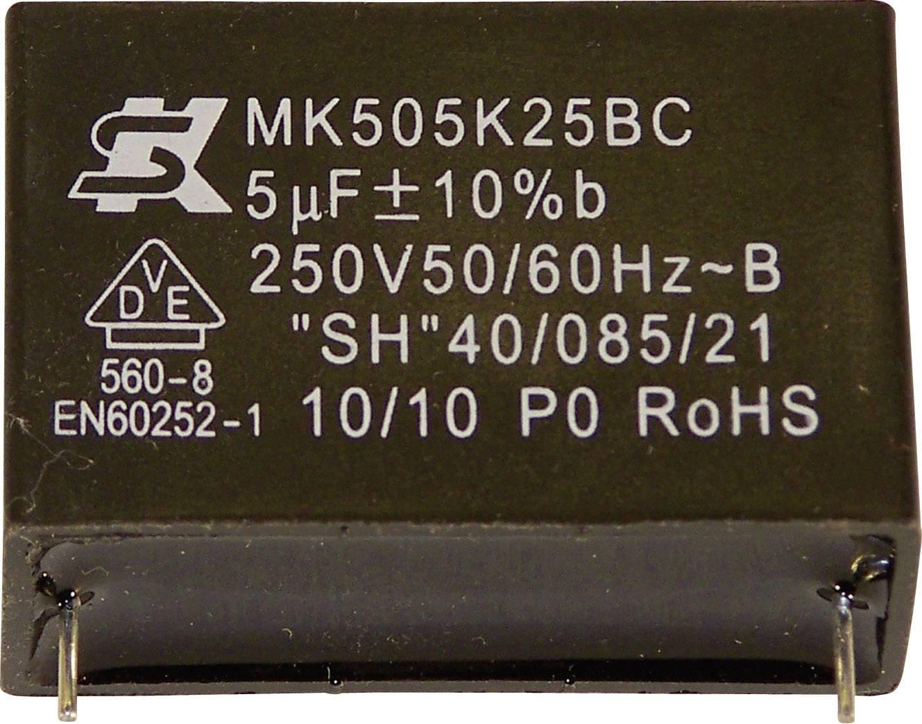Fóliový kondenzátor MKP Seika MK450K105 radiálne vývody, 1 µF, 450 V,10 %, 32.5 mm, (Ø x v) 22 mm x 13 mm, 1 ks