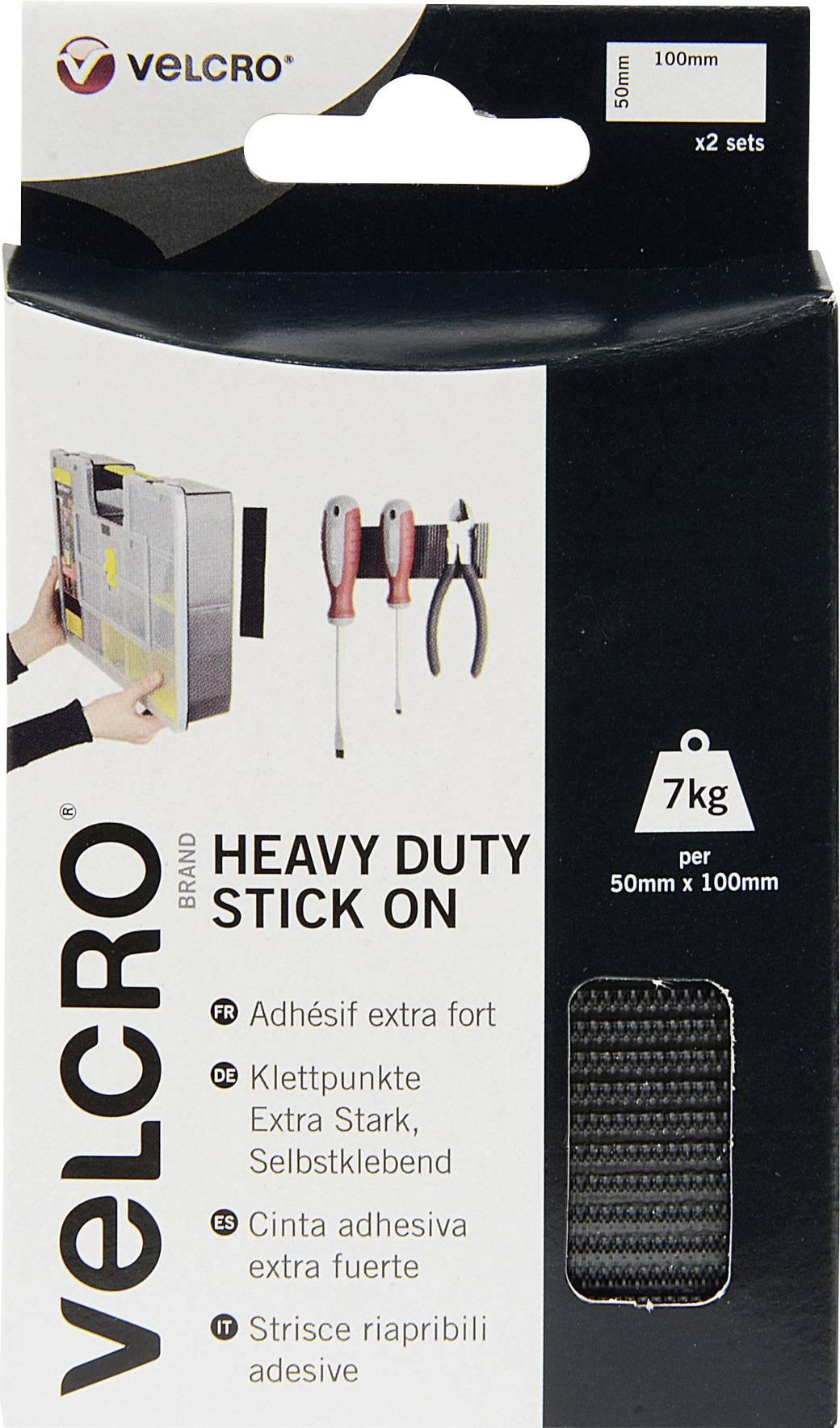 Samolepicí páska se suchým zipem Velcro VEL-EC60239, 100 mm x 50 mm, 2 páry