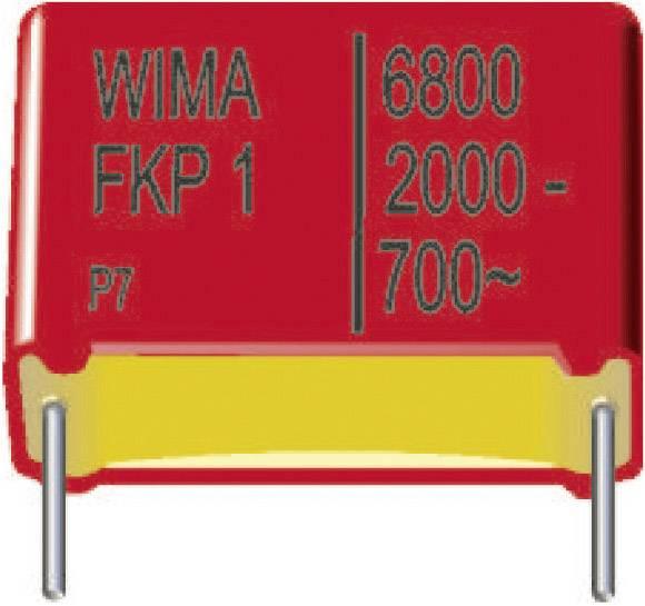 Fóliový FKP kondenzátor Wima FKP1U012205D00KSSD radiálne vývody, 2200 pF, 2000 V/DC,10 %, 22.5 mm, (d x š x v) 26.5 x 7 x 16.5 mm, 1 ks