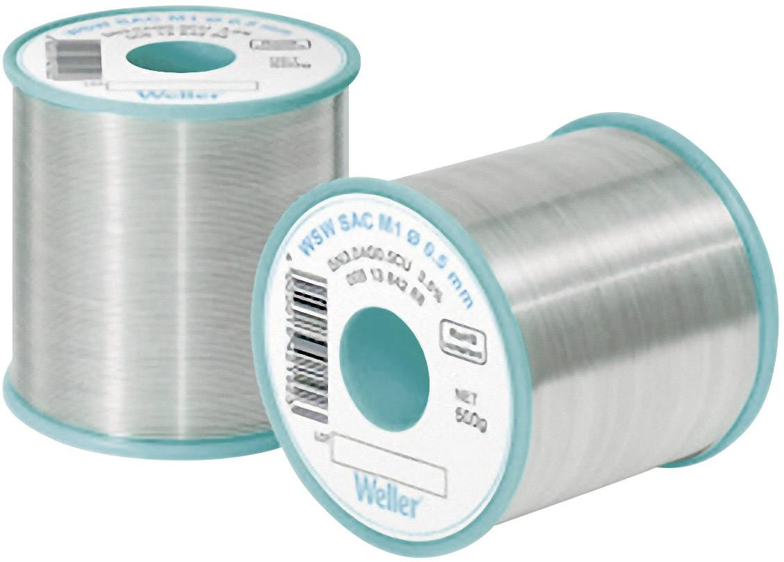 Bezolovnatý pájecí cín Weller Professional WSW SAC L0, cívka, 100 g, 0.5 mm