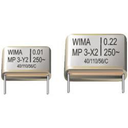 Odrušovací kondenzátor X2 Wima MP3X2, 0,022 µF, 250 V/AC, 20 %, 15 x 13 x 13 mm