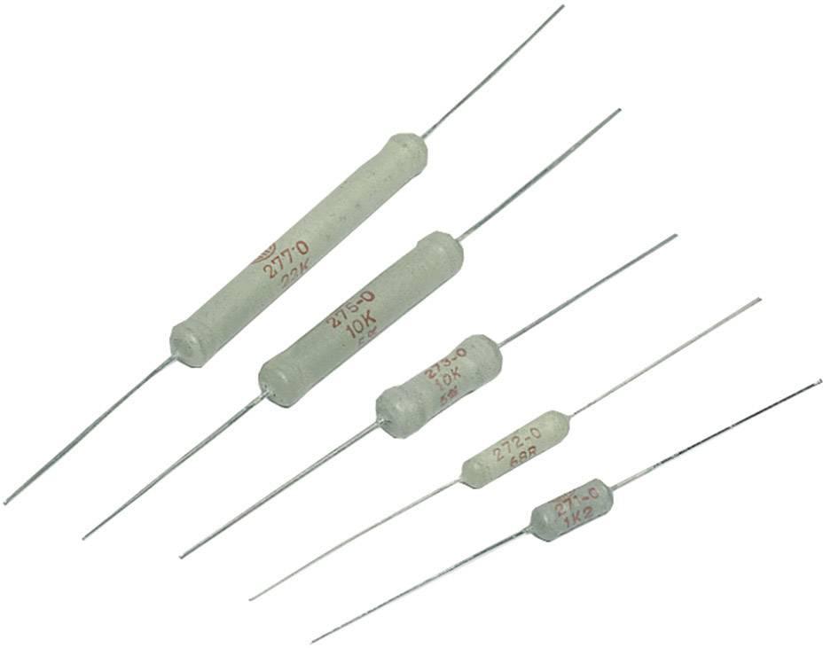 Vysokovýkonný rezistor VitrOhm CR254-05T 3R9, hodnota odporu 3.9 Ohm, axiálne vývody, 2.5 W, 1 ks