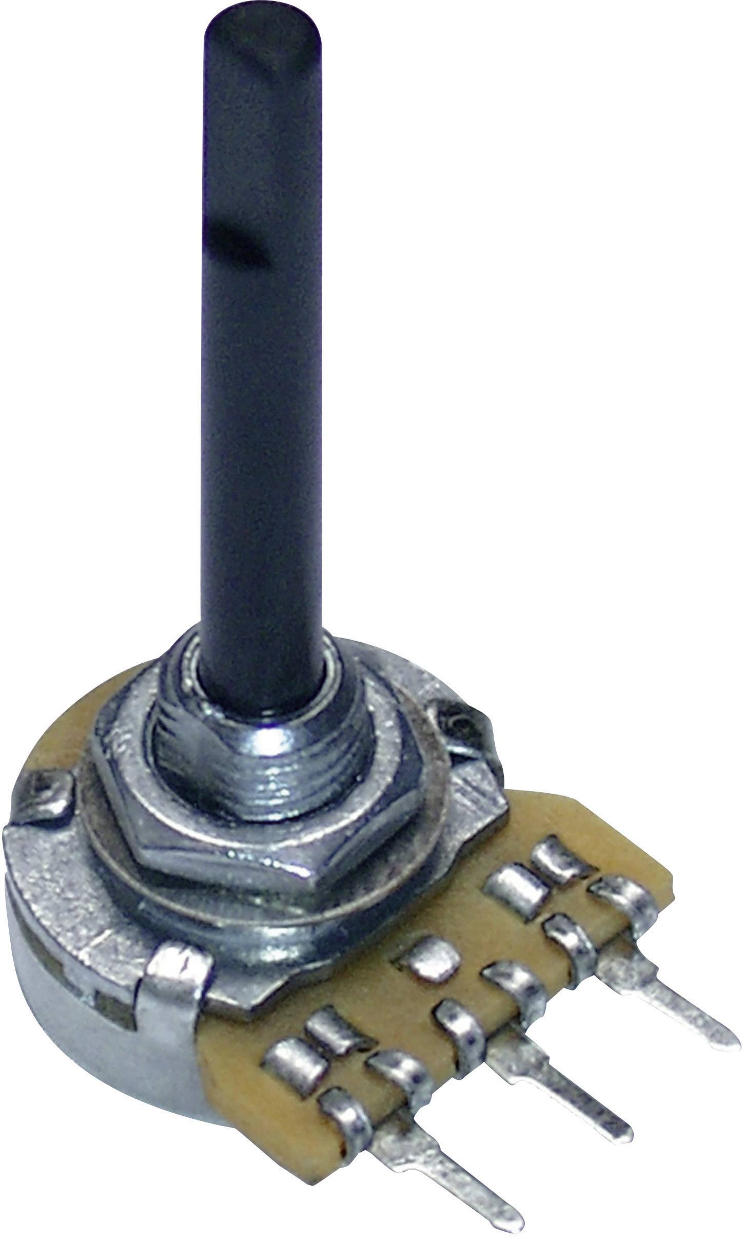 Otočný potenciometer mono Potentiometer Service 9609 9609, 0.25 W, 220 kOhm, 1 ks