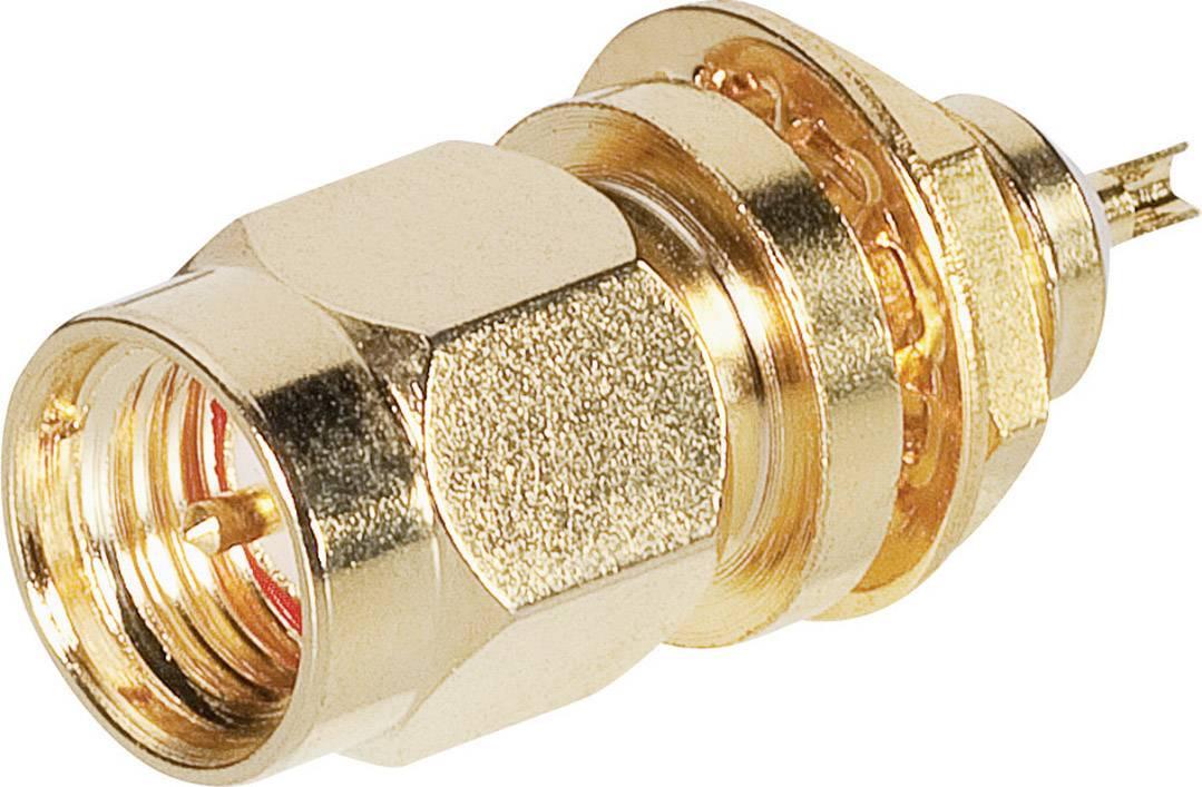 SMA konektor BKL 0409085, 50 Ω, zástrčka vstavaná spájkovateľný