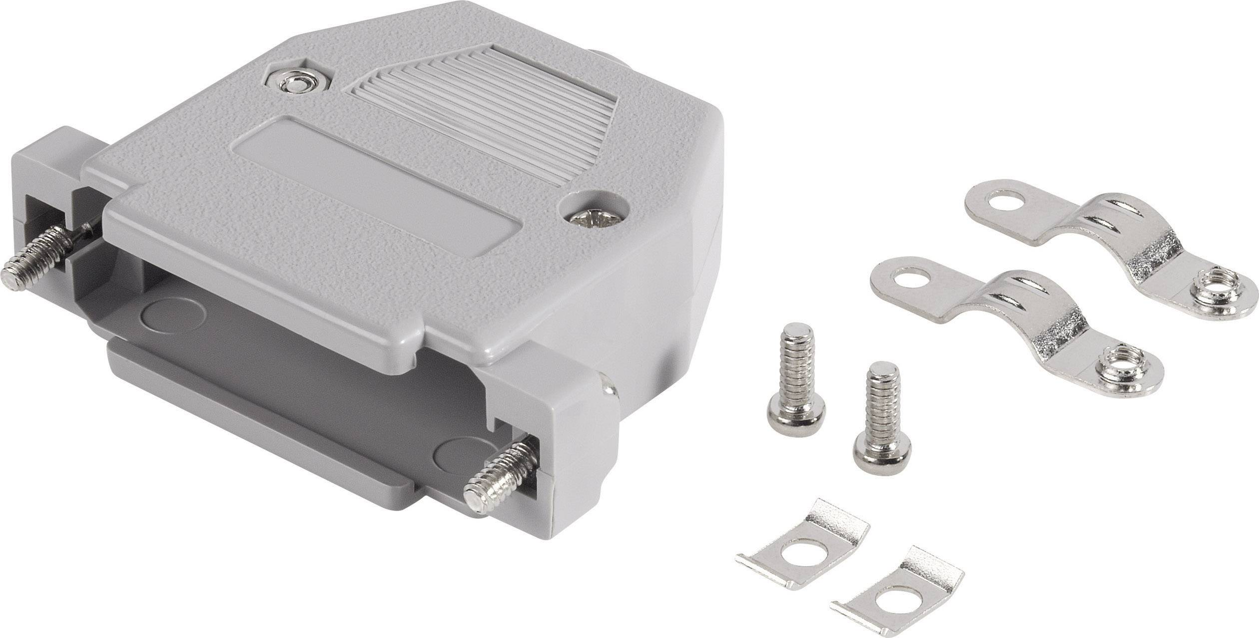 D-SUB púzdro TRU COMPONENTS 1579085, počet pinov: 25, plast, sivá, 1 ks