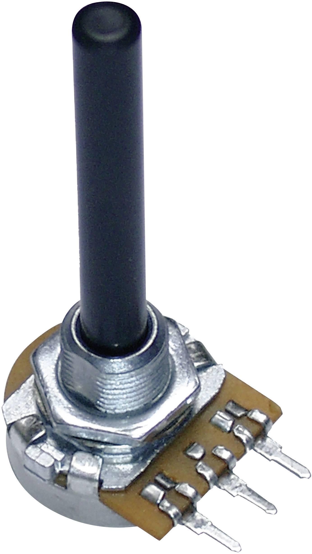 Otočný potenciometer mono Potentiometer Service GmbH 9809 9809, 0.25 W, 220 kOhm, 1 ks