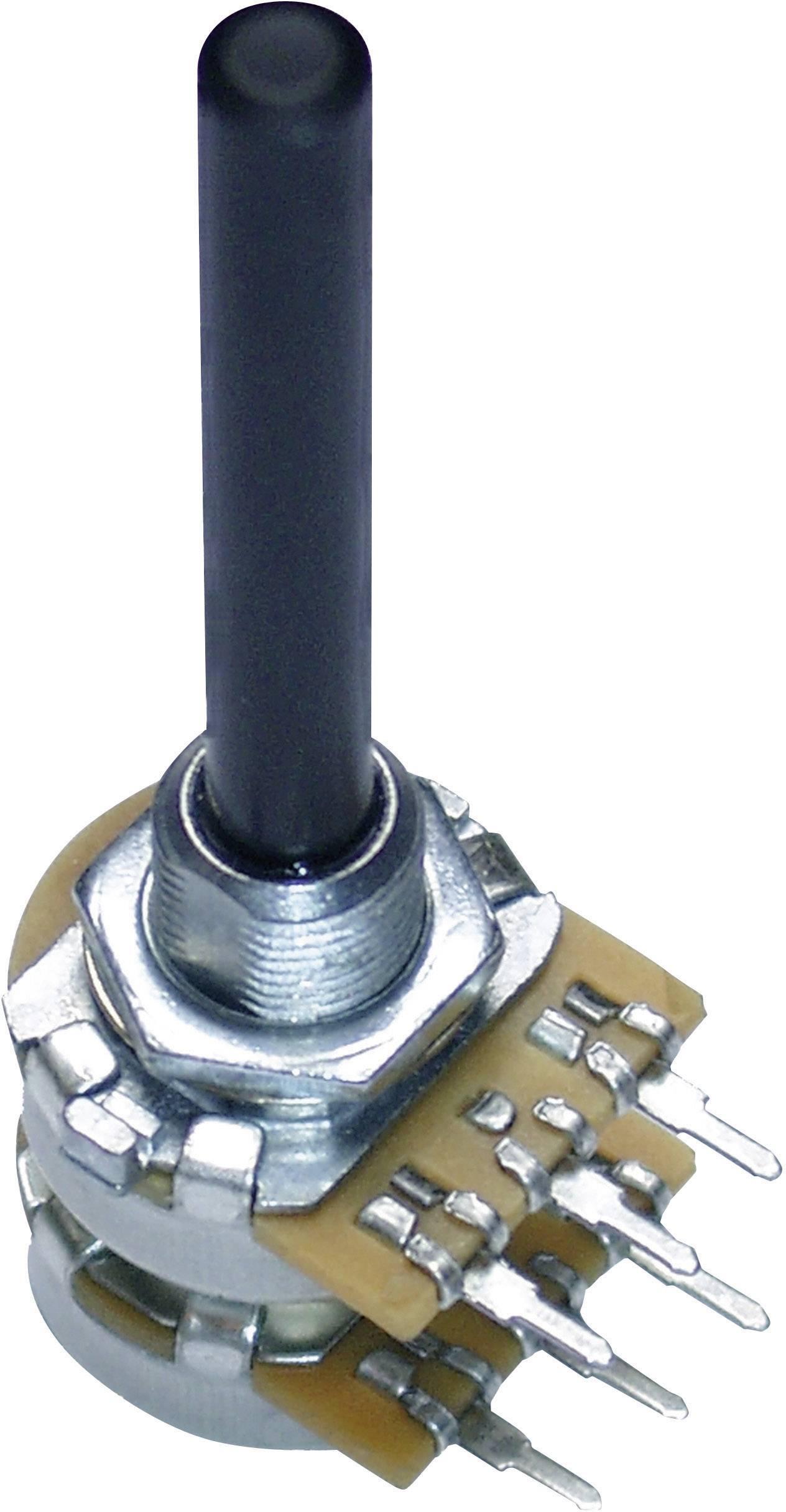 Otočný potenciometer stereo Potentiometer Service GmbH 9708 9708, 0.25 W, 100 kOhm, 1 ks