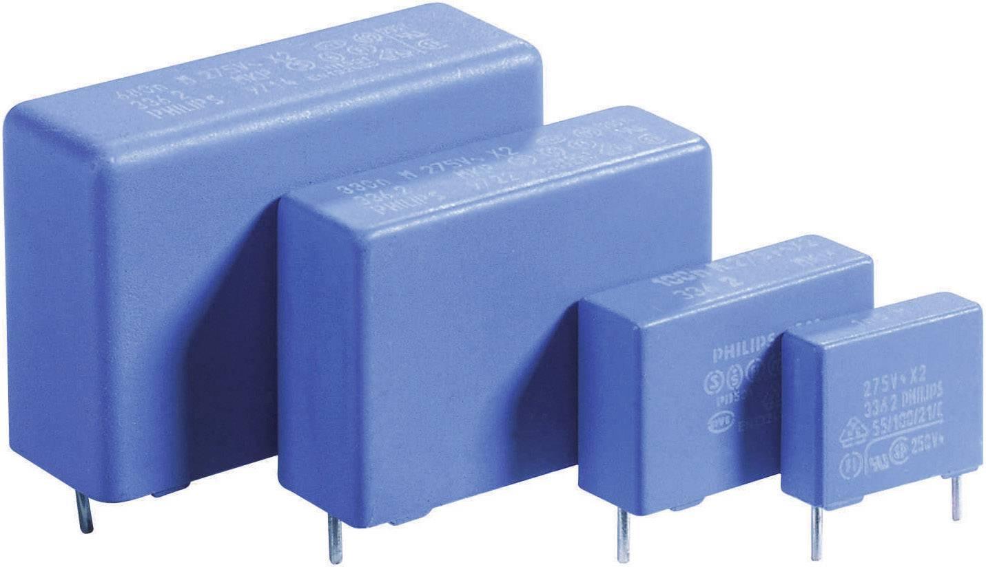 Fóliový kondenzátor MKP radiálne vývody, 0.1 µF, 275 V/AC,20 %, 15 mm, (d x š x v) 17.5 x 6 x 12 mm, 1 ks