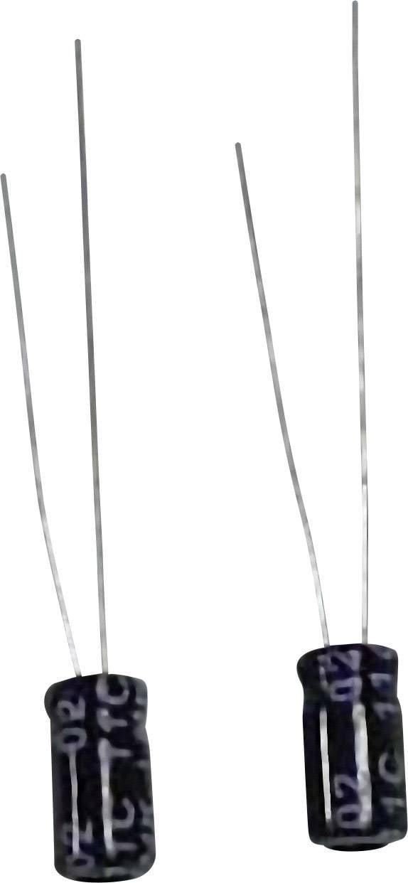 Kondenzátor elektrolytický, 220 µF, 10 V, 20 %, 12 x 6,5 mm