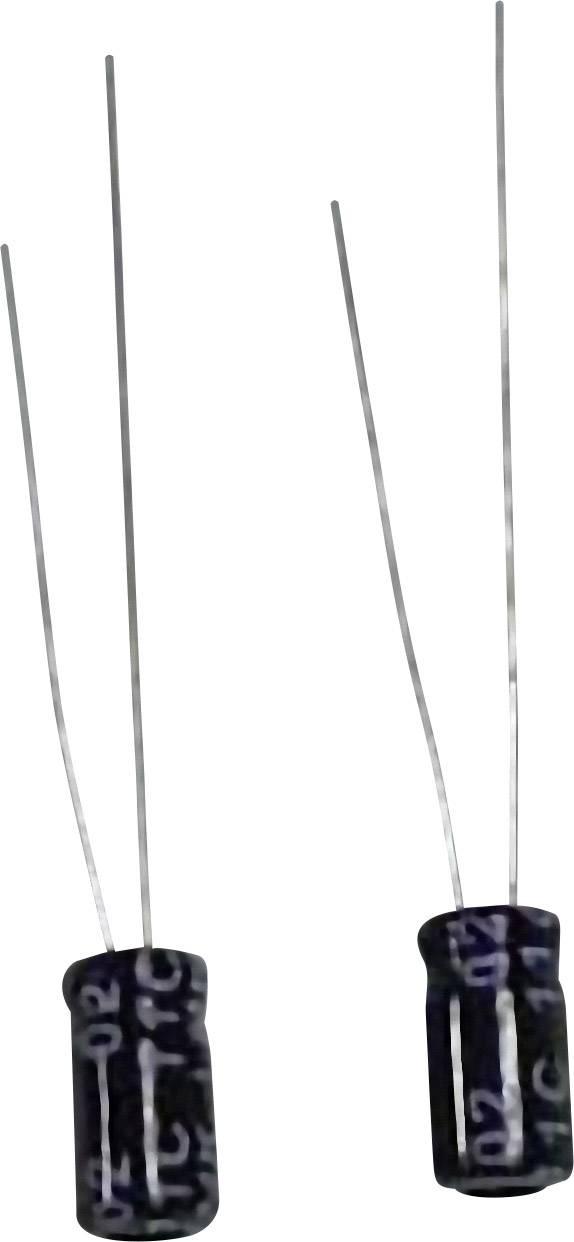 Subminiatúrny elektrolytický kondenzátor radiálne vývody, 33 µF, 25 V, 20 %, 1 ks