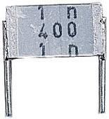 Fóliový kondenzátor MKT Epcos B32560-J3104-K radiálne vývody, 100 nF, 250 V/AC,10 %, 7.5 mm, (d x š x v) 9 x 3.2 x 6.1 mm, 1 ks