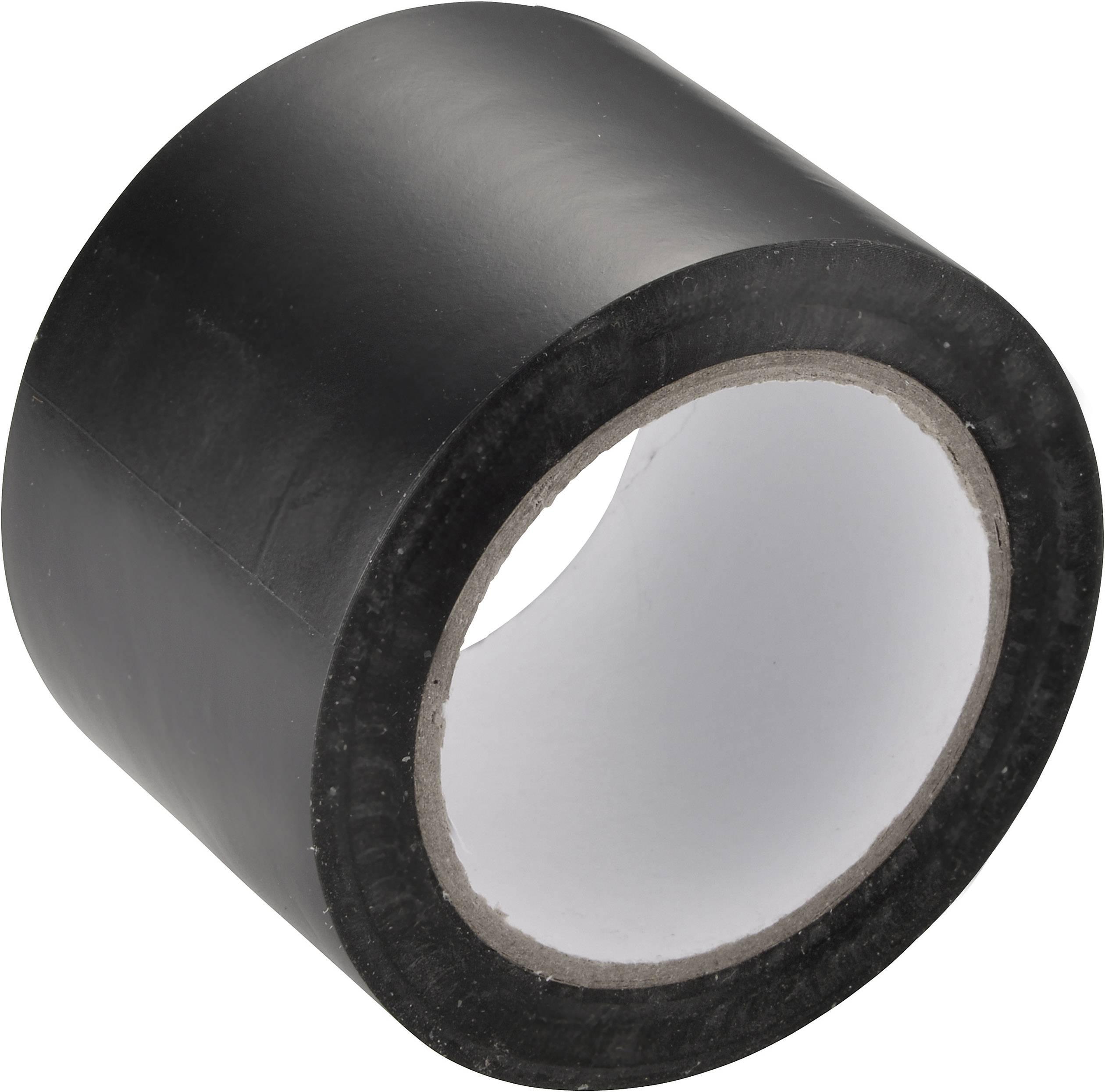 PVC tape Conrad Components 460930, (d x š) 12.5 m x 50 mm, čierna, 1 roliek