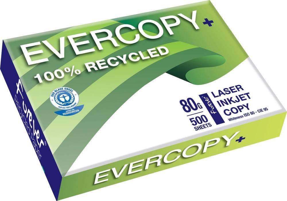 Recyklovaný papier do tlačiarne Clairefontaine Evercopy+, 50048C A4, 80 gm², 500 listov