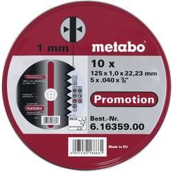 Řezný kotouč rovný Metabo 616359000 Průměr 125 mm 10 ks
