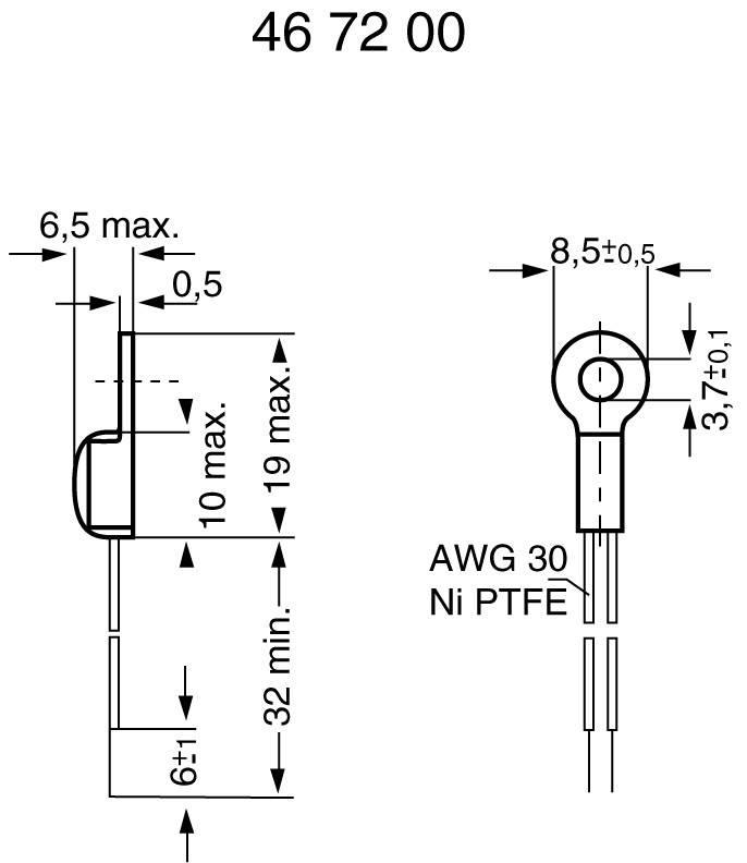 Termistor (NTC) typ M703