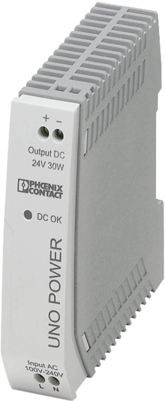 Zdroj na DIN lištu Phoenix Contact UNO-PS/1AC/24DC/30W, 1,25 A, 24 V/DC