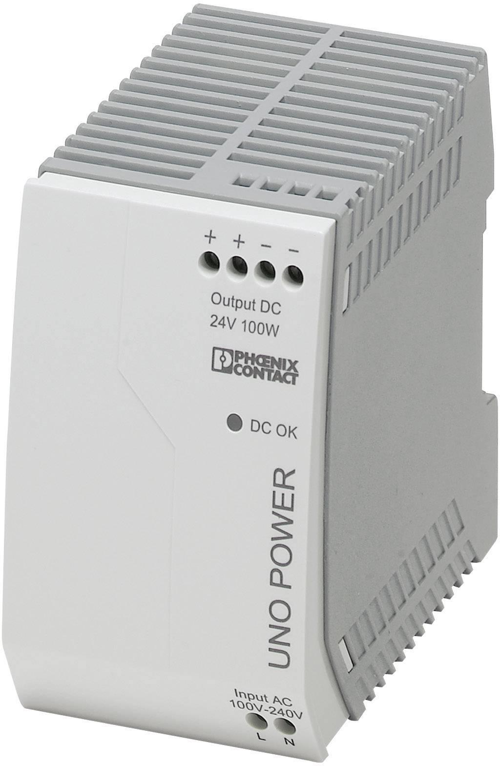 Zdroj na DIN lištu Phoenix Contact UNO-PS/1AC/24DC/100W, 4,2 A, 24 V/DC